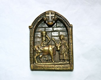 Holy Cow Door Knocker from England -- How Now Brown Cow, But It's a Dun Cow