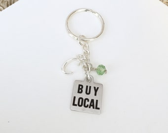 Personalized Buy Local Keychain