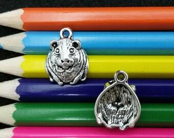 10 PCS - Hamster Gerbil Guinea Pig Mouse Animal Rodent Silver Tone Charm Pendant C1570