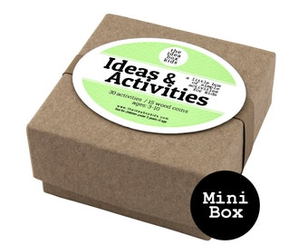 Mini Ideas & Activities Box for Kids, Party Favor, Preschool Party, Homeschool Party, Birthday Party Favor, Student Gift, Carnival Party