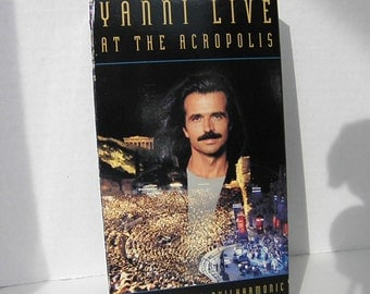 Yanni Live at the Acropolis 1994 VHS Video Tape Pre-owned