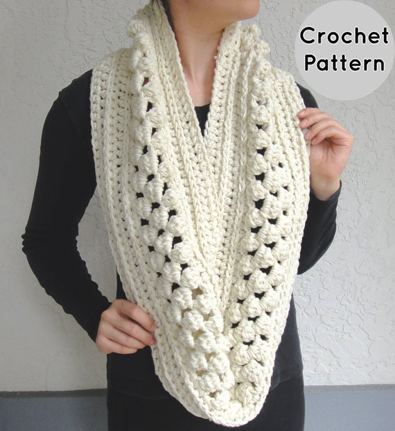 Free Crochet Pattern For Popcorn Scarf Dancox For