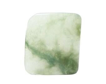 True Jade Dark green and Pastel Green Semiprecious Gem Stone, Polished Flat Loose Jewel Stone of Heaven 2 sided semi precious plank gemstone