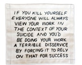 If You Kill Yourself Embroidery