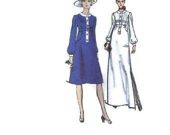 Jean Patou Designer Dress Vogue Paris Original Vintage 60s Sewing Pattern A-line Midi Evening Gown Bust 32