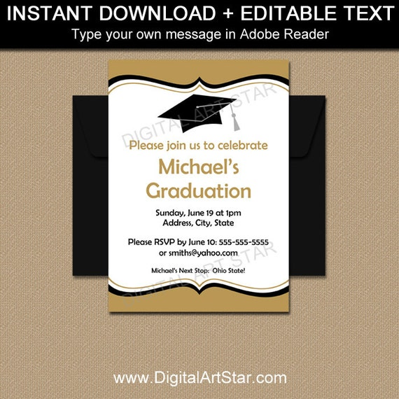 Editable graduation invitations printable graduation party il570xn filmwisefo
