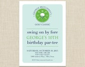 golf birthday party invitation - golf party