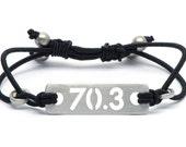 70.3 Half Ironman or 140.6 Ironman Adjustable Stretch Bracelet, Triathlon Jewelry, Gift for Triathletes, Triathlon Gifts, Triathlon Bracelet