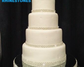Rhinestone diamante  Crystal  cake  stand stage