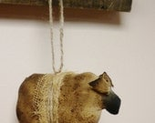 Primitive Sheep Ornament - Made To Order, Country Sheep Decorations, Primitive Christmas Tree Ornaments