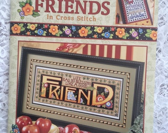 CCS, Just Between Friends Cross Stitch Patterns, Friendship Samplers by Mary Engelbreit - LEISURE ARTS #3405