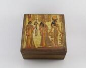 Box PERSONALIZED Gift For Him Egyprtian Souvenir Vintage Box Tutankhamun Mask