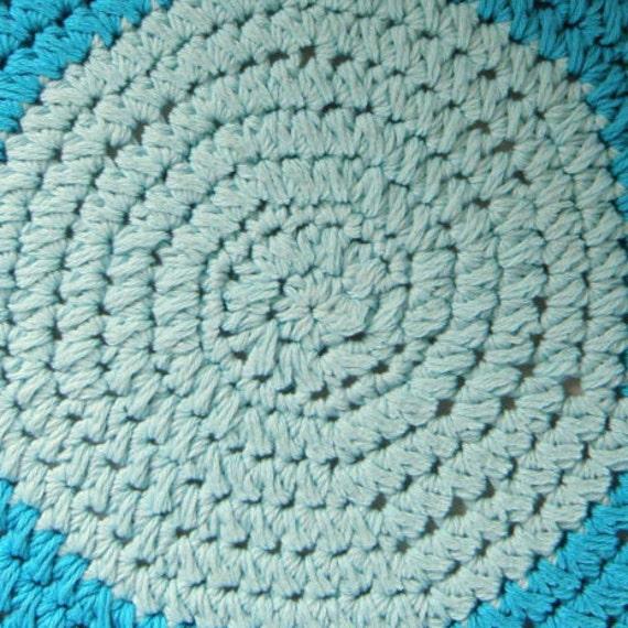 Crochet Round Bath Rug Thick Plush White Cotton Bath Mat Rag