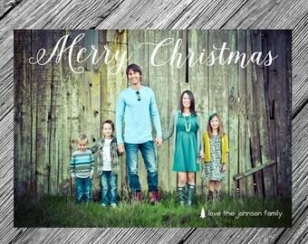 Simple Christmas or Holiday Photo Card {Printable • Customizable • DIY}