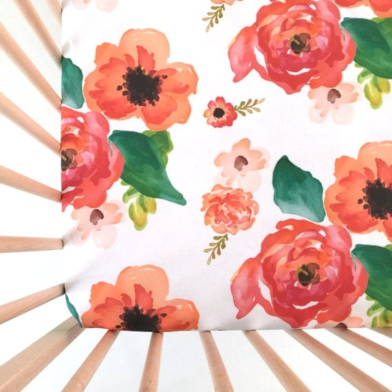 crib sheet floral dreams fitted crib sheet baby bedding. Black Bedroom Furniture Sets. Home Design Ideas