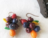 Berry Dangle Earrings bright colorful drop earrings