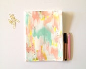 LARGE Hand Painted Notebook Journal Abstract Art OOAK Moleskine Softcover 120 Blank Pages sketchbook diary prayer journal bible journaling
