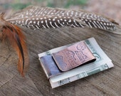 Lunar Mountaintops Copper Money Clip