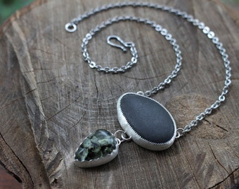 On Banks of the Roaring River - Forest Finds Necklace