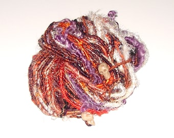 Handspun Bulky Art Yarn- Enchanted Cauldron