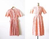 60s dress / vintage pink dress / eyelet lace sundress / kawaii clothing
