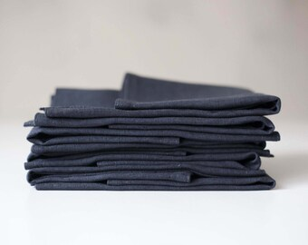 Grey placemats set - dark grey linen table decor - dark gray placemats in size 13x18 inch  0314