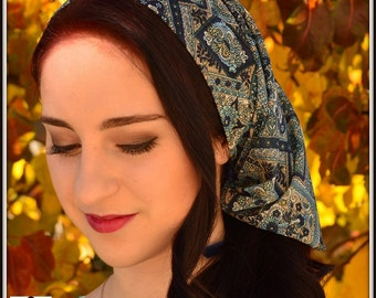 Women Coverings SCT26 - Christian Headcovering Headband Headscarf with Ties