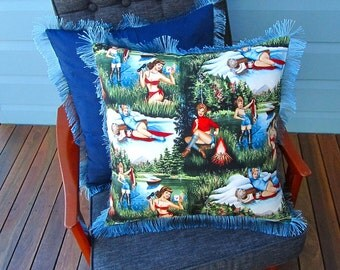 Babes in the woods cushion cover
