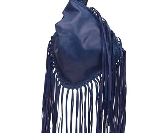 BOHO FALL. Leather purse / leather wristlet / leather purse bag / fringe leather pouch / small purse. Available in different leather colors.
