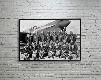 Tuskegee Airmen Print, Wall Decor, Wall Art