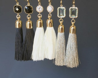 20% Sale! Tassel Earrings, Bar Earrings, Minimalist,Rose gold Earrings,Red, White, Gray, Black, Wine, Champagne, Wedding Bridesmaid gift