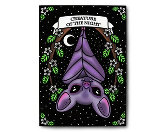 Creature Of The Night Small Art Print - Pastel Goth Art