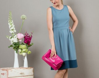 "Sleeveless Summerdress ""Lotta"", in blue gray"