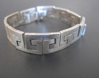 Vintage Estate Taxco Silver Bracelet