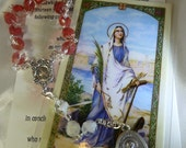 St. Philomena Chaplet Rosary Rosarie, Patron of Babies, Infants, Children and Youth, patron of Parish Priests.