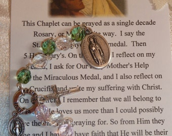 St. Monica and St. Augustine~Chaplet for strained Relationships~Rosary Chaplet