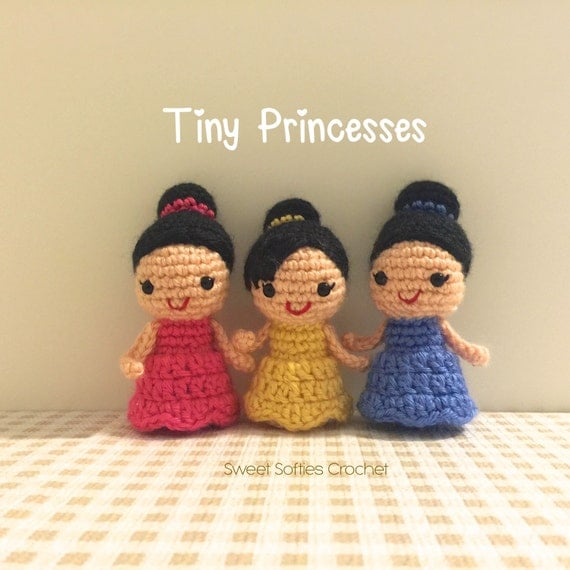 Amigurumi Disney Princess : Tiny Princesses Amigurumi Crochet Pattern Flower Girl by ...
