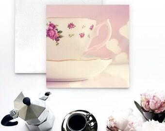 Tea Cup Notecard - Tea greeting card