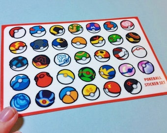 Pokeball Sticker Sheet