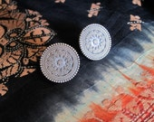 Pure Silver Earrings - Modern Round Studs