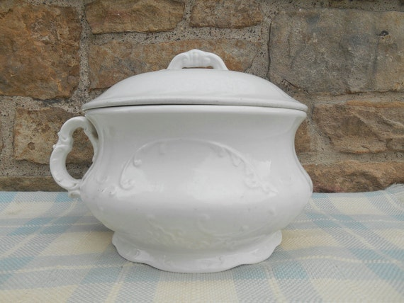 Pot de chambre ancien fer blanc avec couvercle pot thunder - Pot de chambre antique ...