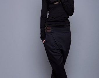 "Hooded Sweatshirt ""arnika"", black chiffon"