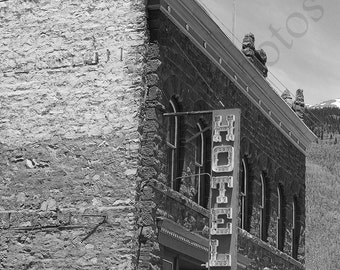 8 x 10 matted photograph Historic Hotel, SIlverton, Colorado