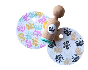 Rubber stamp Butterfly (mini Stamp).