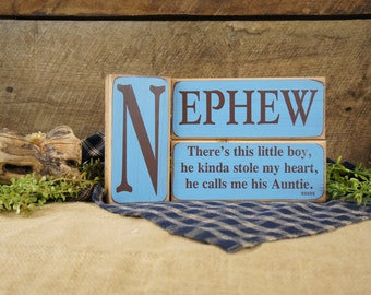 3 Piece Block Set - Nephew - There's This Little Boy...