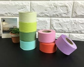 3.5 cm Solid Color Cotton Bias by the roll - 7 Colors - 14 Yards 85628