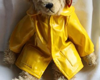 Ty Beanie Baby Bear - Gordon - Raincoat - Collectibles - Plushie - Beanie Babies - Stuffed Animal - Yellow - Toys - Bear