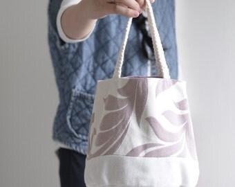 Susan Bucket top handle bag - reversible double sided small bucket handbag
