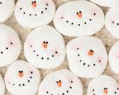 Snowman Ornament, Primitive Snowman Ornament, Folkart Snowman Ornament