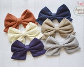 New Fall Sailor bows, DIY hair bow, hair bow supply, headband supply, wholesale bows, leather bows, fabric bows- for DIY no clip.